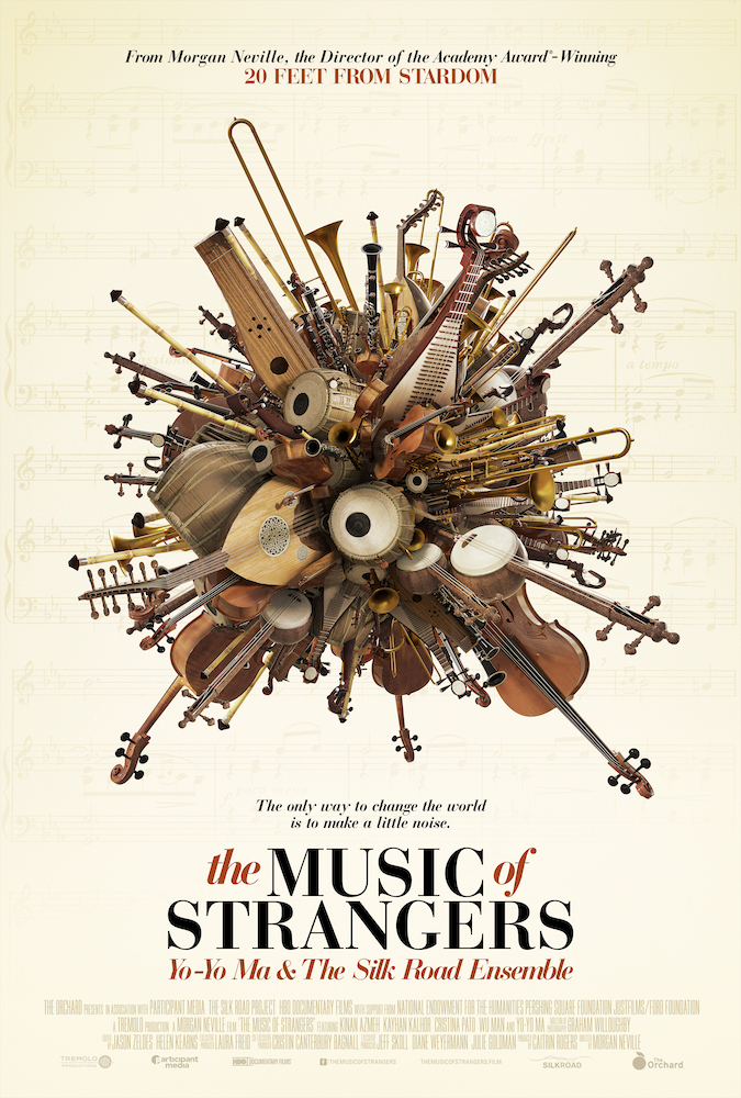 THE MUSIC OF STRANGERS  IS A DEEPLY ENGAGING MOVIE EXPLORING THE STORY OF YO YO MA AND THE SILK ROAD ENSEMBLE. ITS COMPANION CD SING ME HOME, A TESTIMONY TO THE BEAUTY OF CROSS-CULTURAL COLLABORATIONS.
